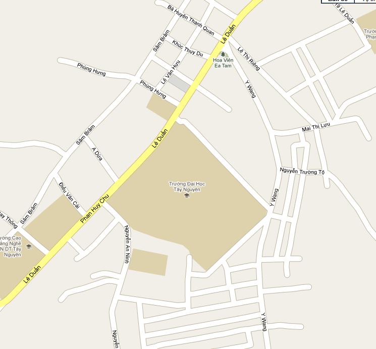Bản đồ dẫn tới phòng khám Cơ sở 2 - Phòng khám bệnh viện Đại học Tây Nguyên